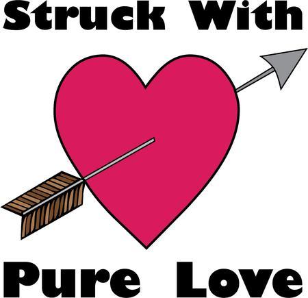 zeitlos: Die zeitlose Symbol der Liebe Amors Pfeil durch ein Herz. Macht eine perfekte Dekoration f�r Valentines Ihnen oder Valentines Sie tragen Illustration