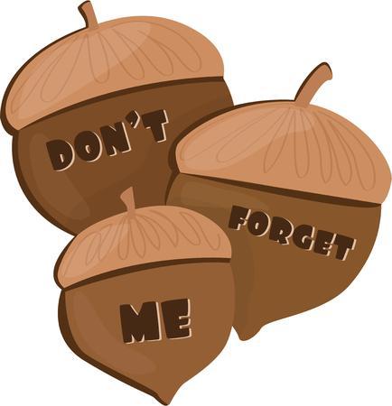 acorns: Acorns look good with fall decor.