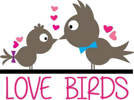 birdies: Love and kisses shared by some of the cutest birds ever  We love the silhouette style birds with splashes of color with the bows and hearts.  Add this special effect to shirts or jackets