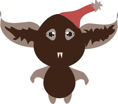 hobgoblin: Looking for a most unusual monster  look no further  We cant say for sure its a bird or a bat but we do know it is scary and funny  Add him to a monster motif for that unusual dcor. Illustration
