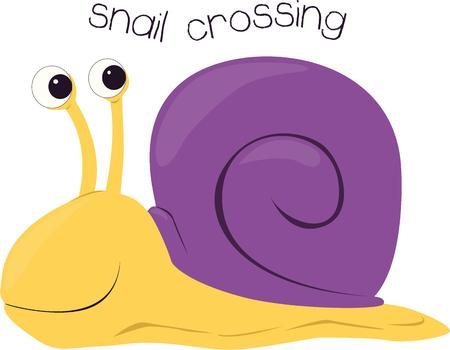 gastropod: Slow and steady wins the race.  This steady racing snail is a fun way to dress up a childrens project or toddler shirt