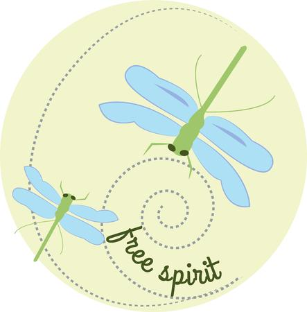 darning: Artistic dragonflies swirl around a translucent circle creating an outstanding way to create an appreciated gift. We love it on denim shirts