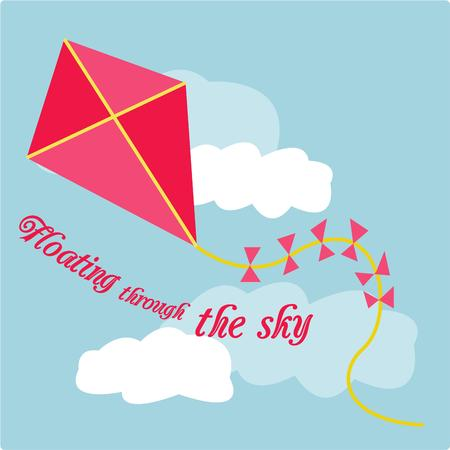breezy: Let your imagination soar like this simple but cute kite.  Add the feel of a breezy spring day to your creations with this adorable design.