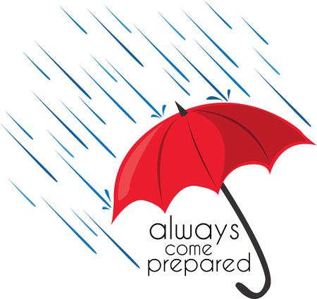 brolly: Be ready for a rainy day with an umbrella.