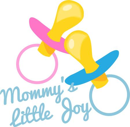 provide: A passy for a girl and a boy are sure to provide that mom of twins some quiet time  We love this design to celebrate twins on baby bags