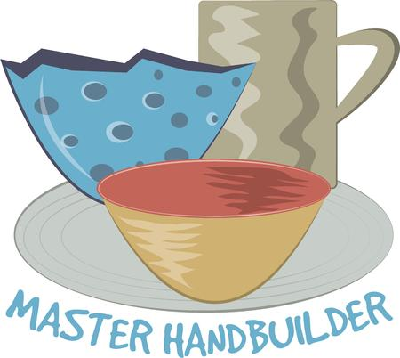 earthenware: Made by hand is best.  Handmade treasures are a long loved treasure This fun graphic is perfect to promote your craft events.