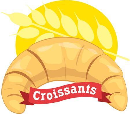 pain frais: Un design parfait pour le pain chaud et frais. Illustration
