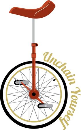 unicycle: The bycycle is curios vehicle its passenger is its engine.  This unicycle require a special rider