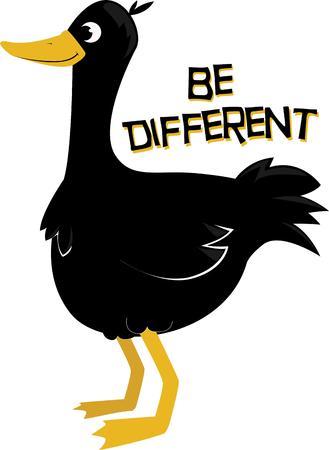 etre diff�rent: Utilisez ce canard mignon pour montrer que vous �tes fier d'�tre diff�rent. Illustration