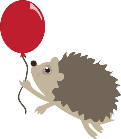 be careful: Here is be careful presented in graphic form.  A little porcupine has to be super cautious not to break the balloon  Super cute for so many projects.