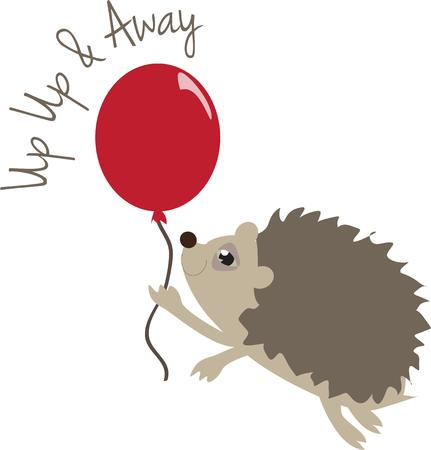 break in: Here is be careful presented in graphic form.  A little porcupine has to be super cautious not to break the balloon  Super cute for so many projects.