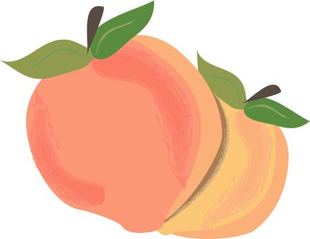 flair: Sweet juicy peaches are a splendid treat of summer.  These beauties add a tasty flair to kitchen dcor of all kinds.
