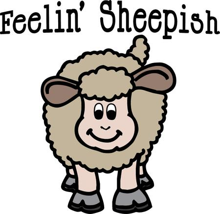 him: A happy sheep is here to add his special charm to your projects. Love him on shirts and jackets