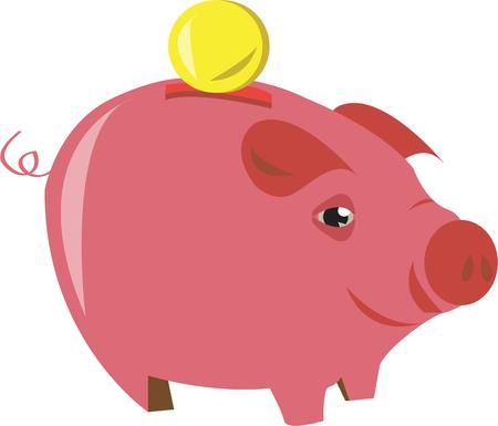 save as: Saving money is hard as this piggy knows  saving is earning  This happy pig is a lovely embellishment that is also a reminder to save for the future.