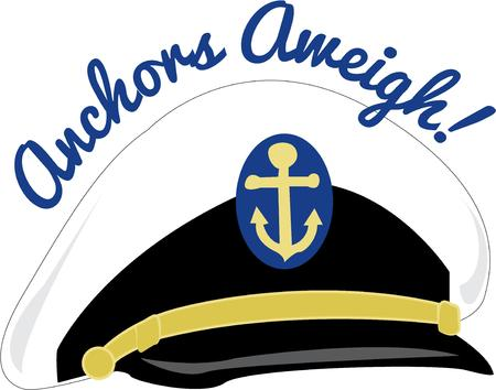 boater: Anchors aweigh lets go for a sail.  This captains hat is a fitting decoration for your favorite boater.
