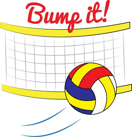bump: A good team can win a volleyball game when they are ahead a great team can win when they are behind.  Create a special graphic for your best team. Illustration