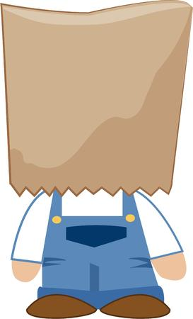 brown paper bag: Here is the most basic costume ever  With a brown paper bag over you head no one can guess who you are