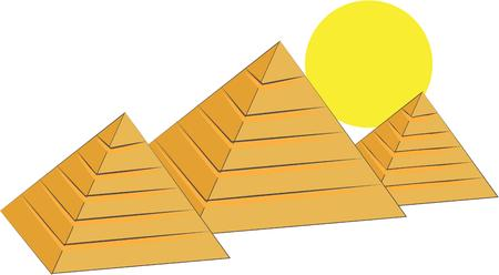 giza pyramids: Travel to exotic Egypt and tour the Great Pyramids of Giza.  Use this design for travel poster or geography class dcor.