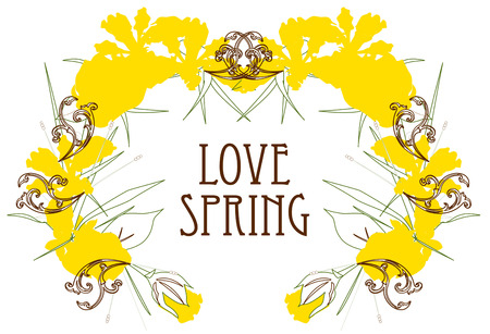 ours: Find a remedy for spring fever in this lovely wreath of yellow flowers.  Add your text or ours to create something truly memorable.