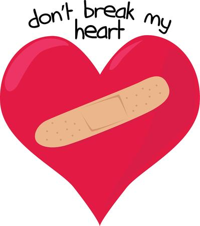 heals: Time and a big BandAid heals a broken heart.  This humorous graphic is a twist on the typical Valentine message.