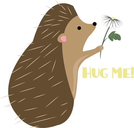 porcupine: This porcupine is looking for a friend.  His sweet nature is hidden by his sharp quills.  This contrasting character makes a lovely addition to kids wear and gear bags.