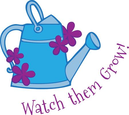 bloom: This lovely watering can makes a garden grow with a touch of beauty in bloom.  We love this design on a garden flag.