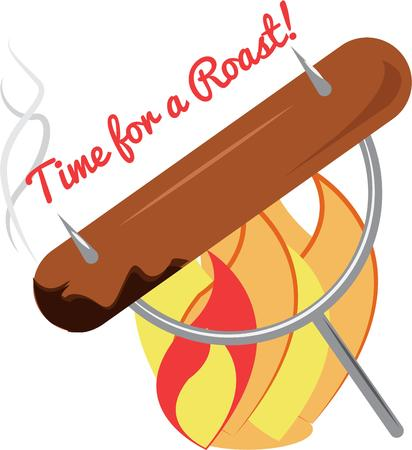 weenie: Whats a camping trip without a weenie roast  Decorate some special shirts for your favorite campers with this colorful graphic.