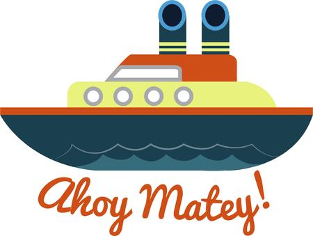 ahoy: Ahoy Mateys Is the pirate life for you Then join the crew while you hoist the sails steer the ship and fire the cannons