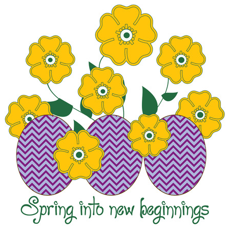 beginnings: Add some pretty flowers to your trendy chevron Easter eggs and you have a masterpiece  This work of art is a gem on your shirts or jackets for springtime.