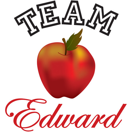 edward: This red apple is absolutely stunning.  We love this juicy red apple on kitchen linens and napkins. Illustration