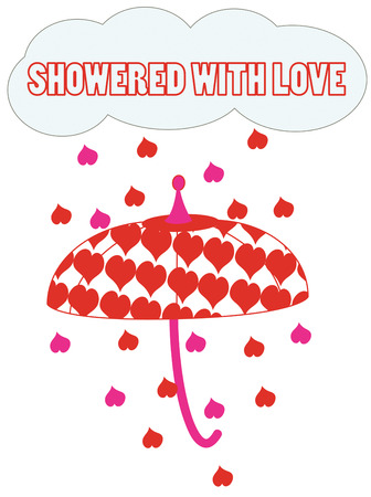 brolly: Dont let a little shower dampen your Valentine spirit.  Its raining hearts  Super fun design for your Valentine creations. Illustration