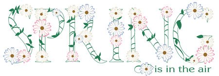 blooms: We have created spring in a collection of plants, blooms and greenery.  Great t-shirt art!