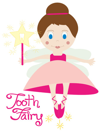 sprite: The tooth fairy is here to deliver treats to children in exchange for lost teeth.  Perfect to create a heirloom tooth fairy pillow. Illustration