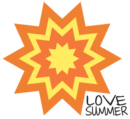 sol: A sun burst design is a classic choice to decorate everything from quilts to apparel.  Brighten up your creations with this ray of sunshine. Illustration