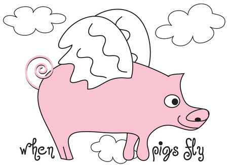 oink: Its happened  when pigs fly is here  Add this flying porker to your apparel creations for a bit of humor.