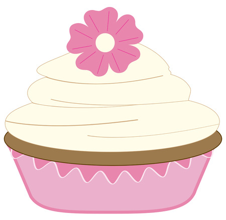 masterpiece: Not just your typical cup cake but a super duper beautifully decorated masterpiece of pastry.  Great on kitchen towels or hot pads.