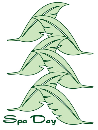 fronds: An line of tropical leaves create an elegant edge for your linen creations.  Use this design over and over to create a long line.