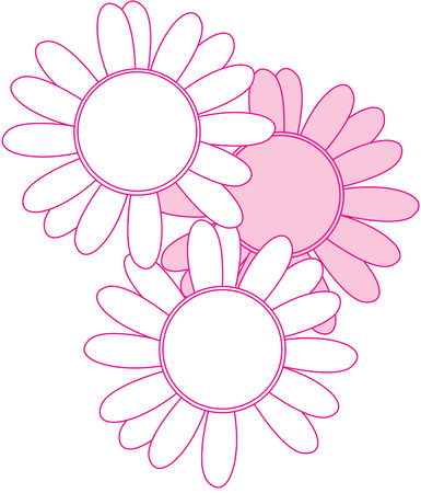turtle dove: Simple pink daisies add a retro charm to your creativity.  Perfect for home deco projects or apparel creations.