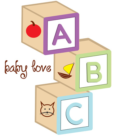 toy box: A classic element of any childs toy box has to be wooden letter blocks.  Add these classics to a baby onesie to create a treasured gift.