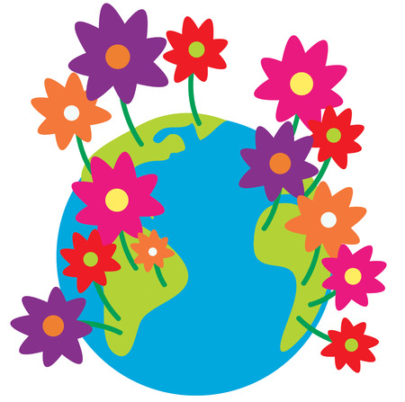 celebrate life: The earth just seems to bloom to life with the arrival of spring.  These earthly blooms are a perfect way to decorate to celebrate the change of seasons. Illustration