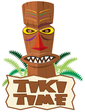 ours: This tiki statue adds the unique feel of the tropics to your creations.  Add your text or use ours for a message sure to be remembered. Illustration