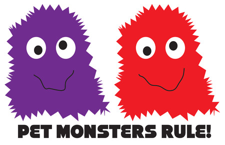 tot: Weve tot two of the funniest  monsters ever.  Not too scary but really nice.  Perfect  for kids clothes at Halloween.