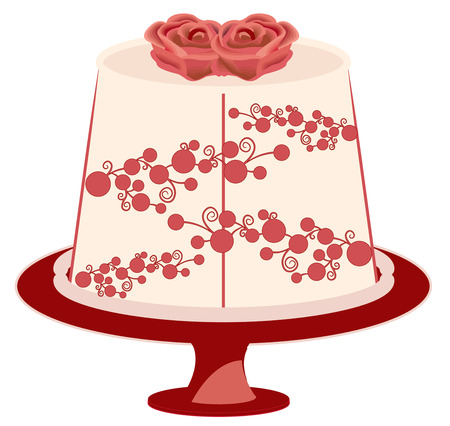 decorated cake: Cake is always tasty but best when decorated with lovely flowers.  Add this cake to an apron for your fav baker