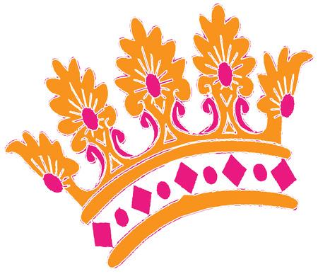 adorn: Flores y piedras preciosas crean una corona perfecta para adornar la cabeza de cualquier princesa. Crear una camisa para tu clan especial de princesas que ofrece esta impresionante corona. Vectores