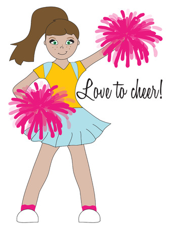promoter: Our cute little cheerleader cheers the team to victory.  She is super cute as a part of a girls room dcor or on a cheer jacket.