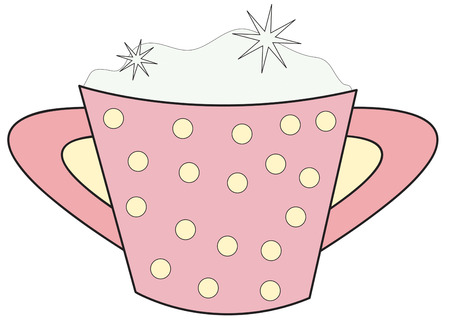 sweetener: A charming sugar bowl is a perfect accent to your kitchen table.  We love this lovely polka dot bowl on kitchen aprons or hot plates Illustration