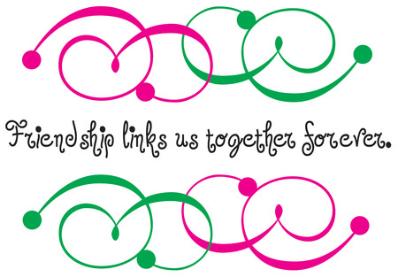 appeal: Pink and green swirls surround a message with unique flair and appeal. A super trendy embellishment for your projects.