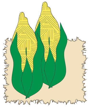 addition: Yummy fresh corn on the cob is a welcome addition to any meal.  They are also a pretty addition to your kitchen linens using this artistic design.