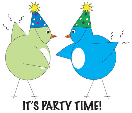 birdies: These feathered party animals are ready for a celebration.  Make them a fun addition to your next event