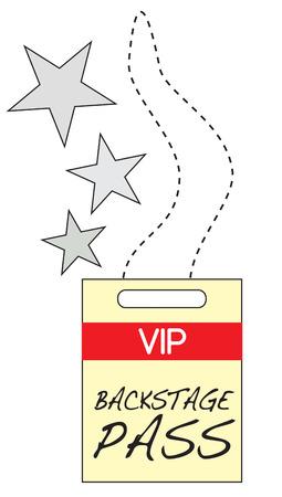 rockstar: Hier is de felbegeerde VIP backstage voorbij Maak plezier concert slijtage en kondigt u met de band Stock Illustratie